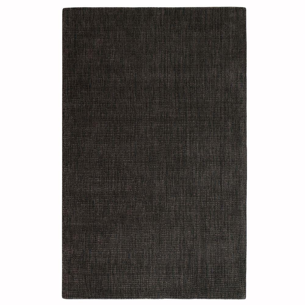 Home Decorators Collection Simplify Black 3 ft. 6 in. x 5 ft. 6 in. Area Rug