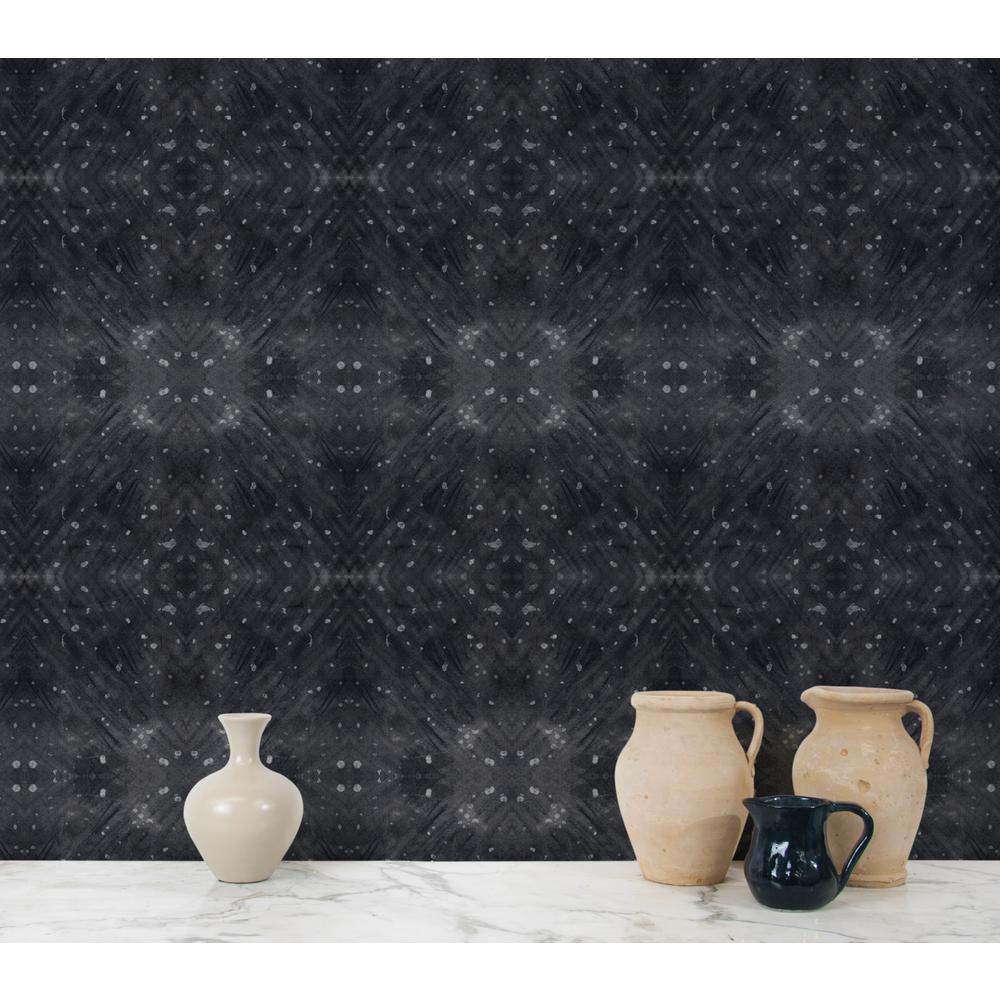 Abra Collection Celestial Diamonds Black Premium Matte Wallpaper