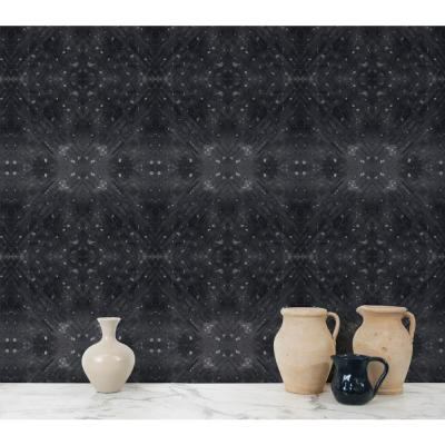 ABRA Collection Celestial Diamonds Black Removable and Repositionable Wallpaper