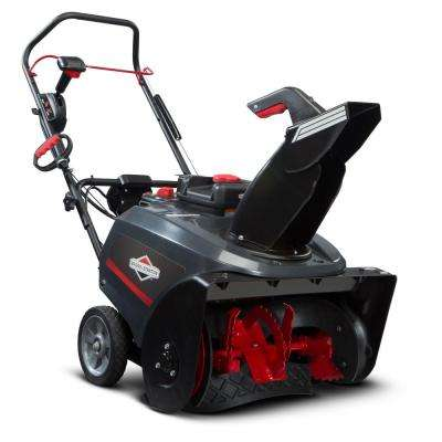22 in. 205cc Single Stage Electric Start Gas Snowthrower with Snow Shredder Auger