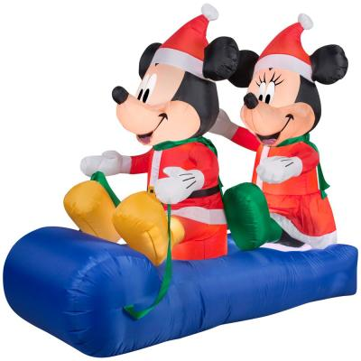 5 ft. Inflatable Mickey and Minnie's Sled Scene