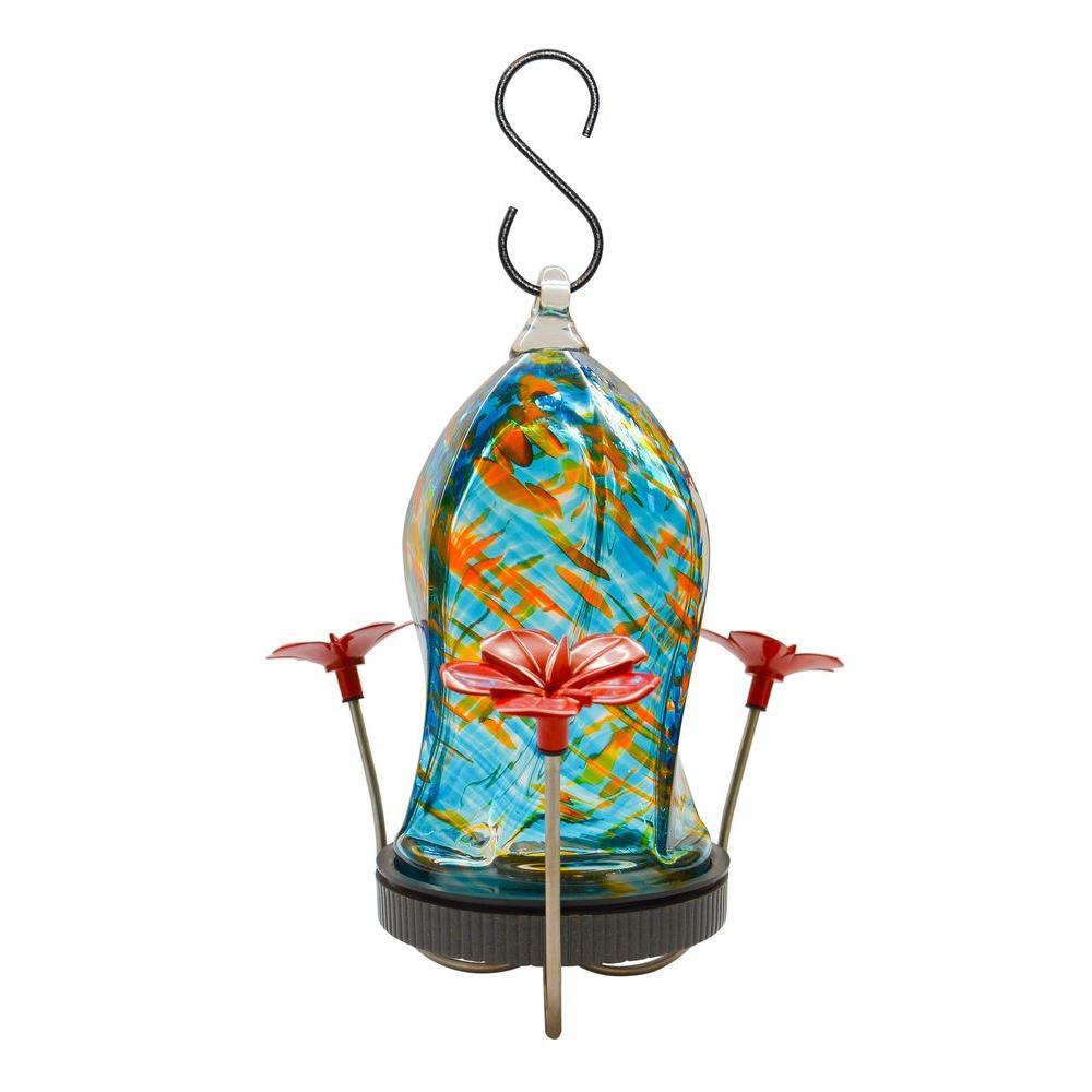 Twisted Jewel Bottom Fill Ocean Wave Hummingbird Feeder
