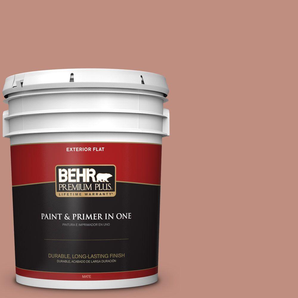 BEHR Premium Plus 5-gal. #200F-4 Foxen Flat Exterior Paint