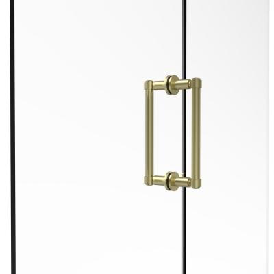 Contemporary 8 in. Back to Back Shower Door Pull in Satin Brass