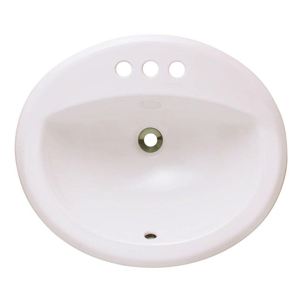 Overmount Porcelain Bathroom Sink in Bisque