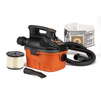 4 Gal. Portable Wet/Dry Vac