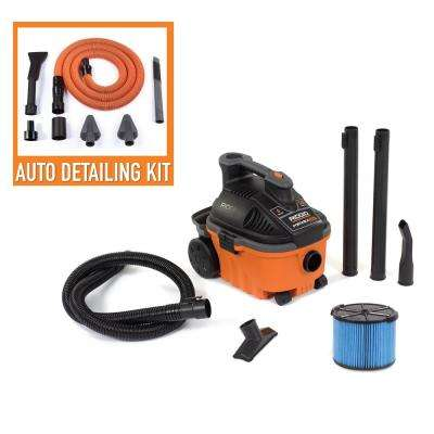 4 Gal. 5.0-Peak HP Portable Wet/Dry Vac with Premium Auto Detailing Kit