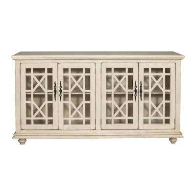 Orsey Antique White Home Entertainment Center