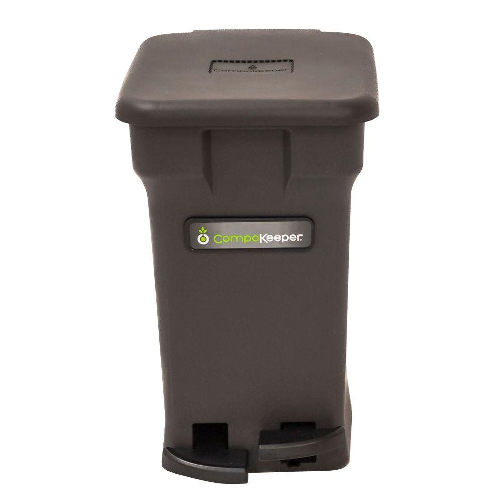 6 gal. Black Hands Free Indoor Compost Bin