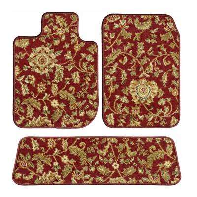 Toyota Highlander Red Oriental Car Mats, Custom Fit for 2014 to 2019 - Driver, Passenger and Rear Carpet Car Mat