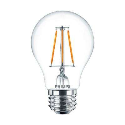 40W Equivalent A19 Dimmable Glass WarmGlow LED Light Bulb (2-Pack)