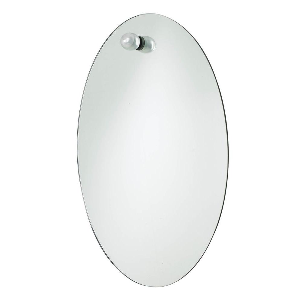 USE Nuovo Small Oval Mirror, Polished Chrome-DISCONTINUED