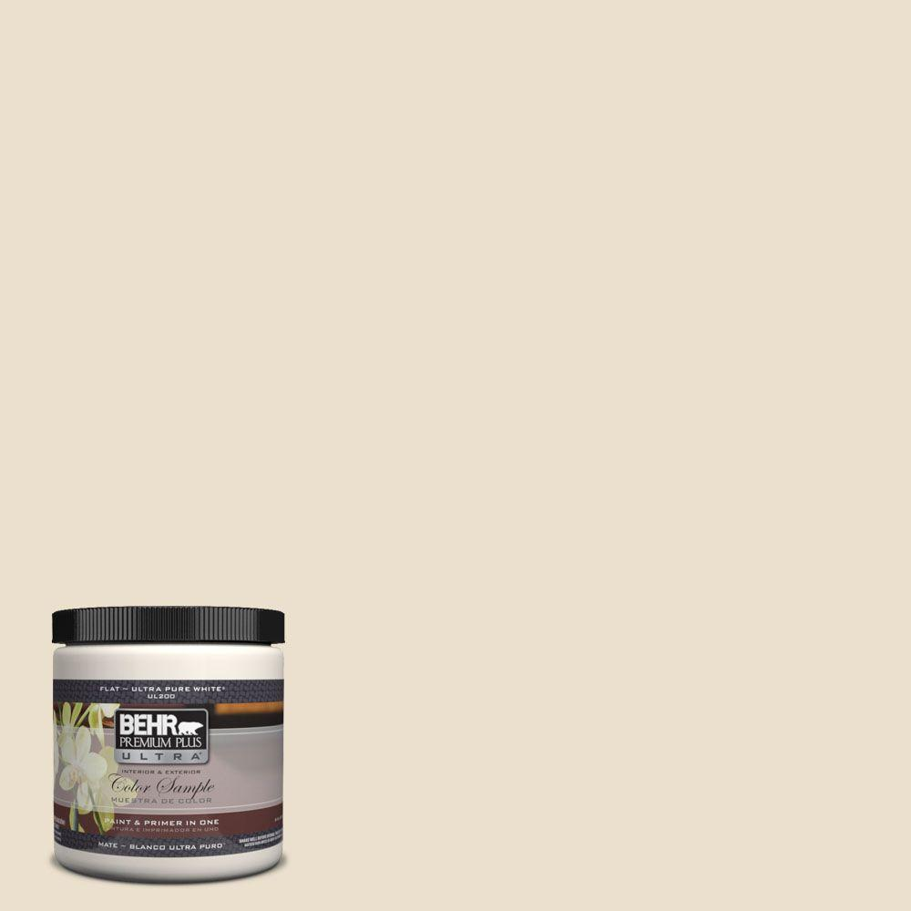 BEHR Premium Plus Ultra 8 oz. #UL180-15 Silky Bamboo Interior/Exterior Paint Sample