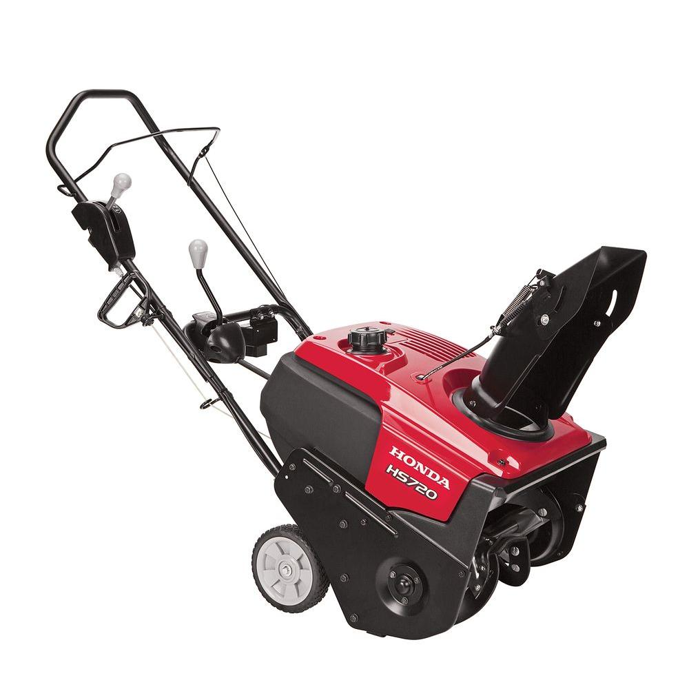 honda snow blowers honda hs720as 20 in single stage electric start gas snow 10997