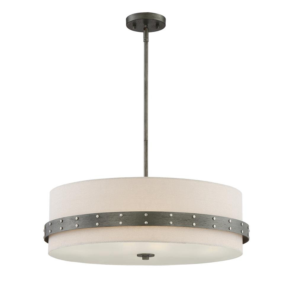 Designers Fountain Garrett 4-Light Weathered Iron Pendant
