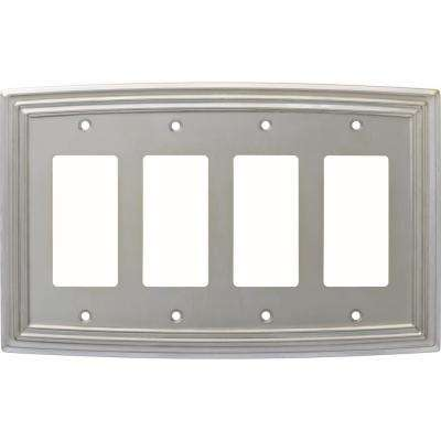Classical 4-Gang Decorator, Satin Nickel E-Coated