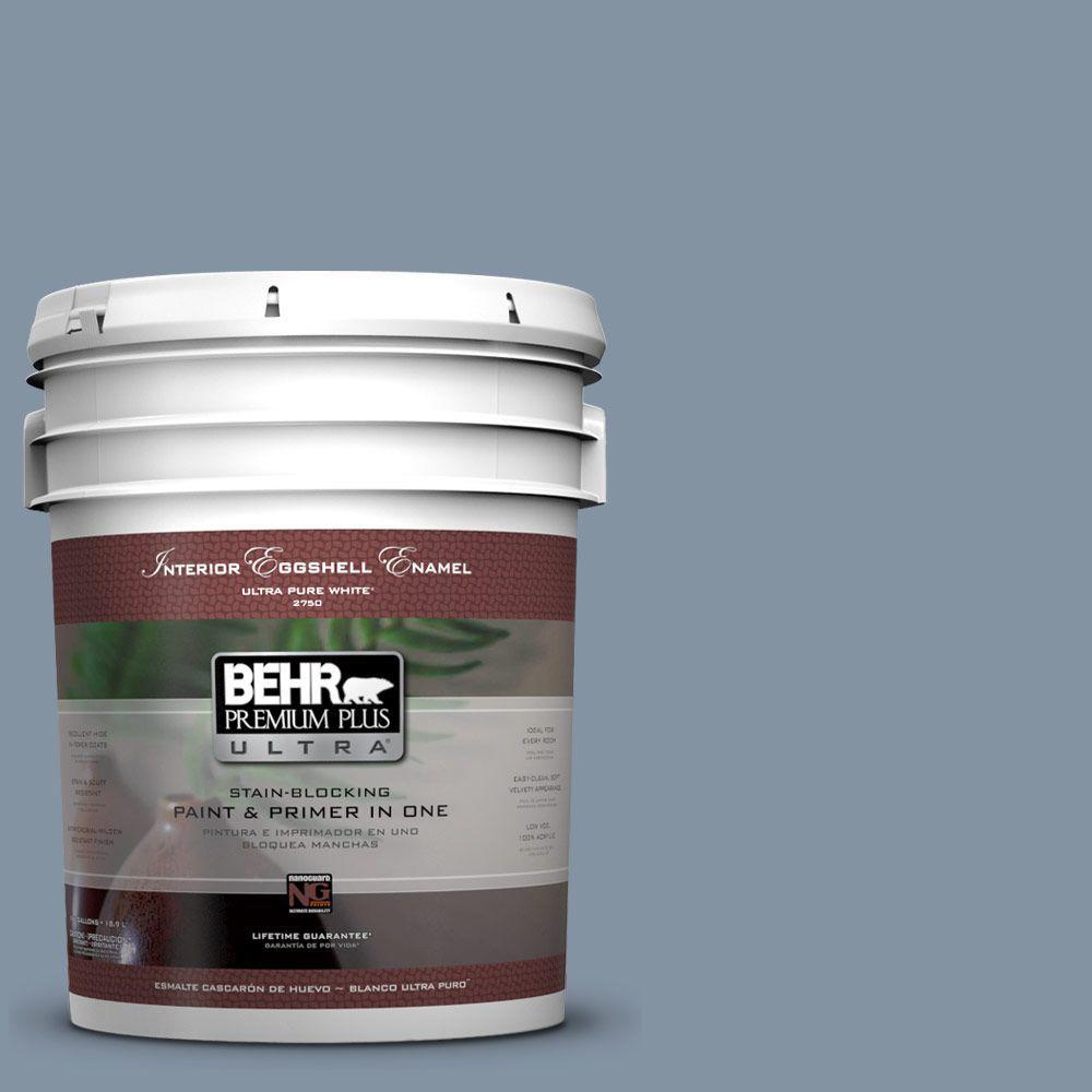 BEHR Premium Plus Ultra 5-gal. #PPU14-6 Coastal Vista Eggshell Enamel Interior Paint