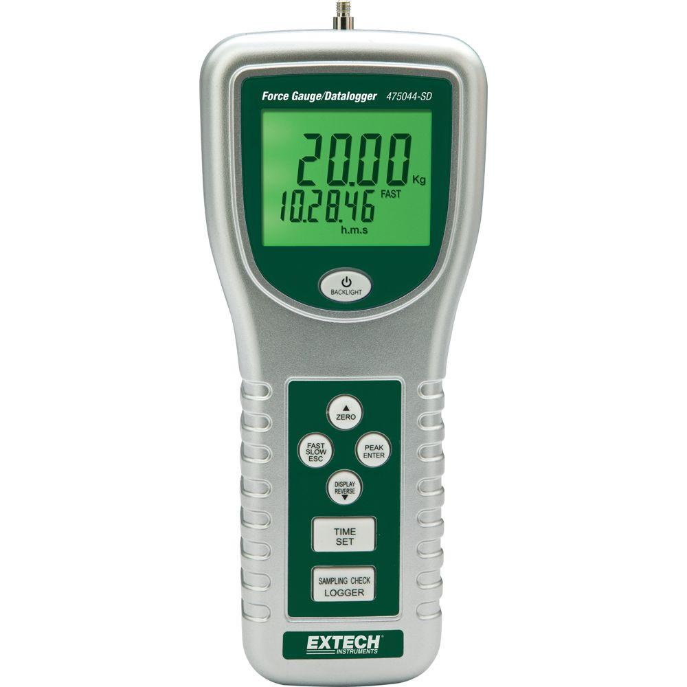 Punching Power Meter : Extech instruments force gauge meter with sd