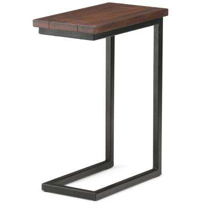 Skyler Dark Cognac Brown Side Table