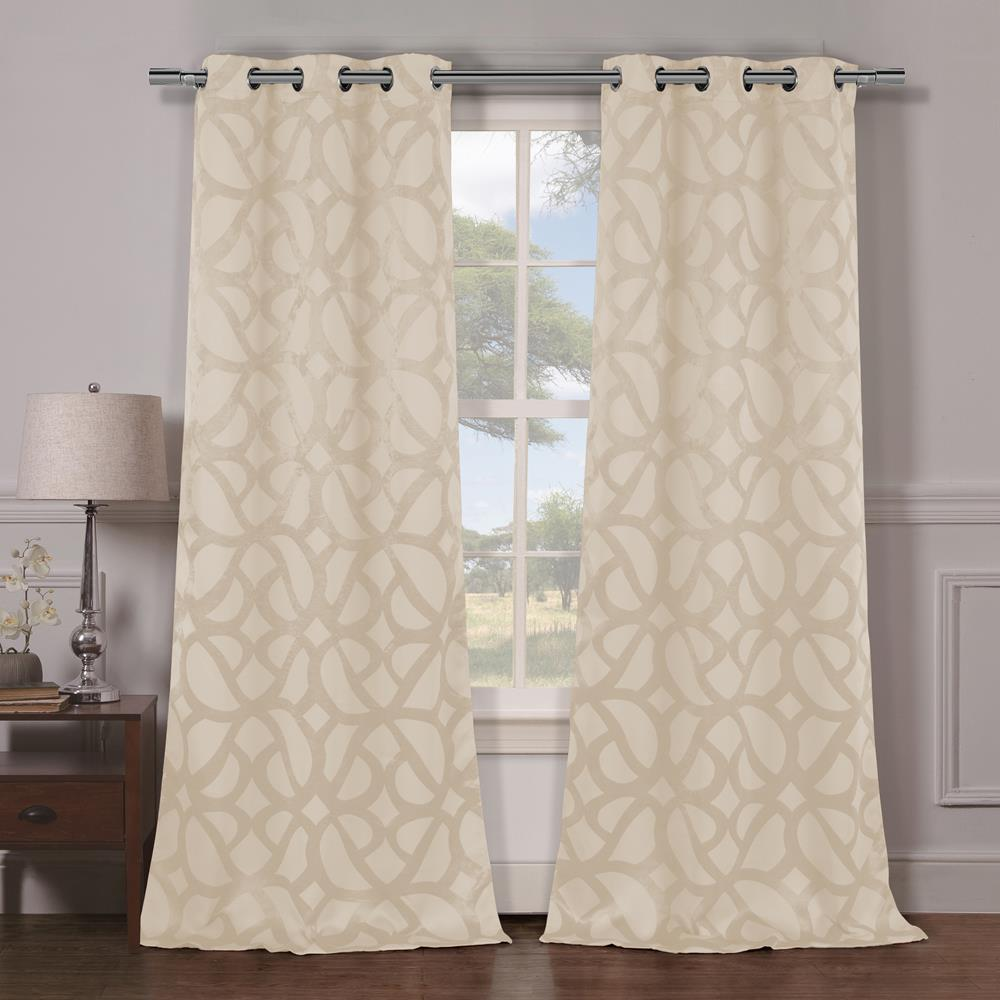 Charlotte 38 in. x 84 in. L Polyester Blackout Curtain Panel