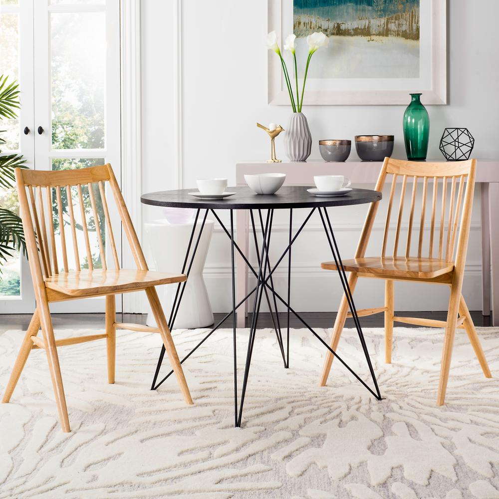 Wren Natural 19 in. H Spindle Dining Chair (Set of 2)