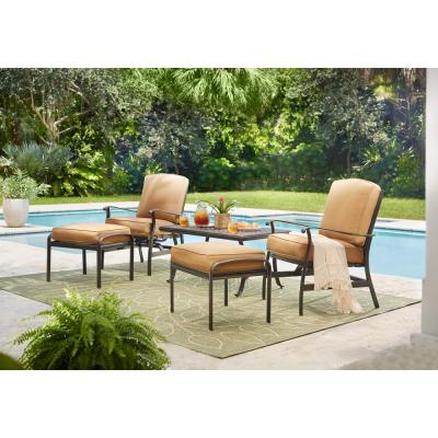 Ridge Falls Aluminum Outdoor Patio Cast Top Coffee Table