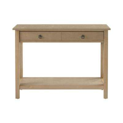 Titian Driftwood Storage Console Table