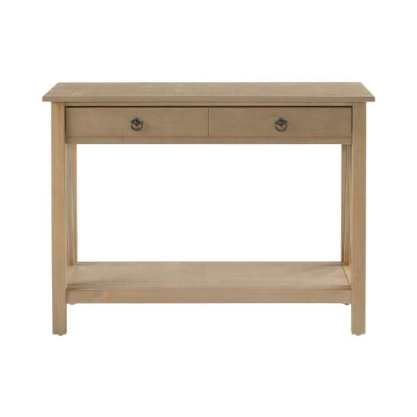 Linon Home Decor Titian Driftwood Storage Console Table