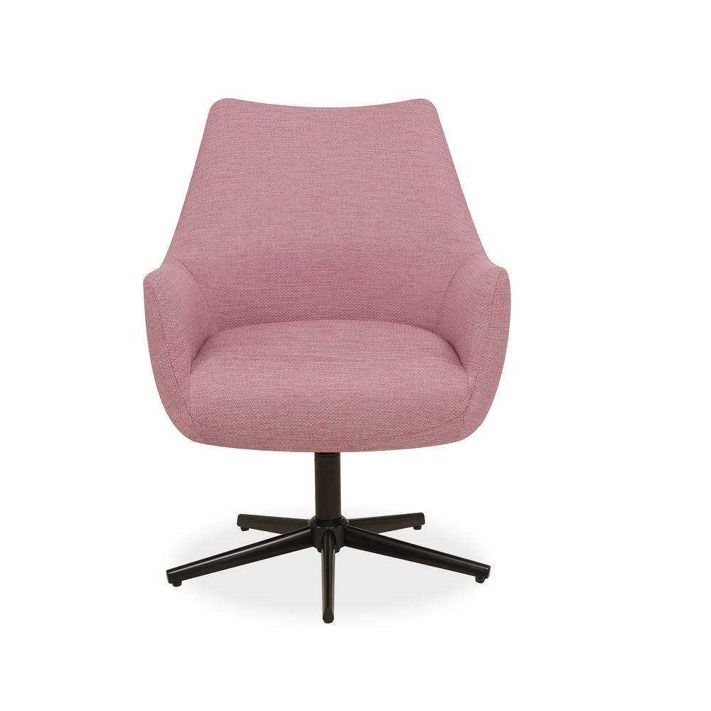 Handy Living Gunnison Swivel Arm Chair In Lavender Textured Weave
