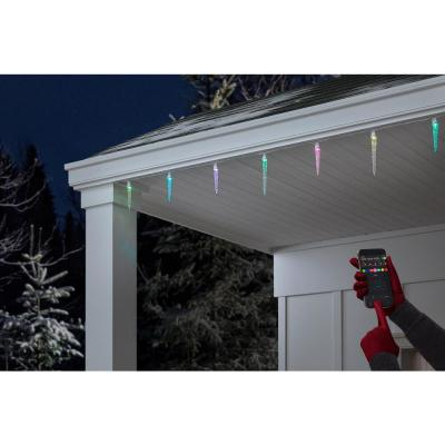 App 48-Light LED Multi-Color Icicle Light