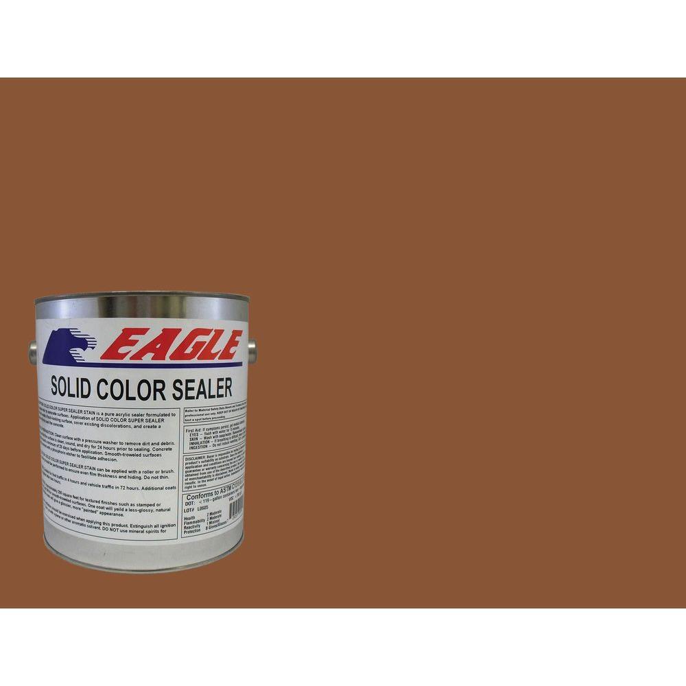 Eagle 1 gal. Terra Cotta Solid Color Solvent Based Concrete Sealer ...