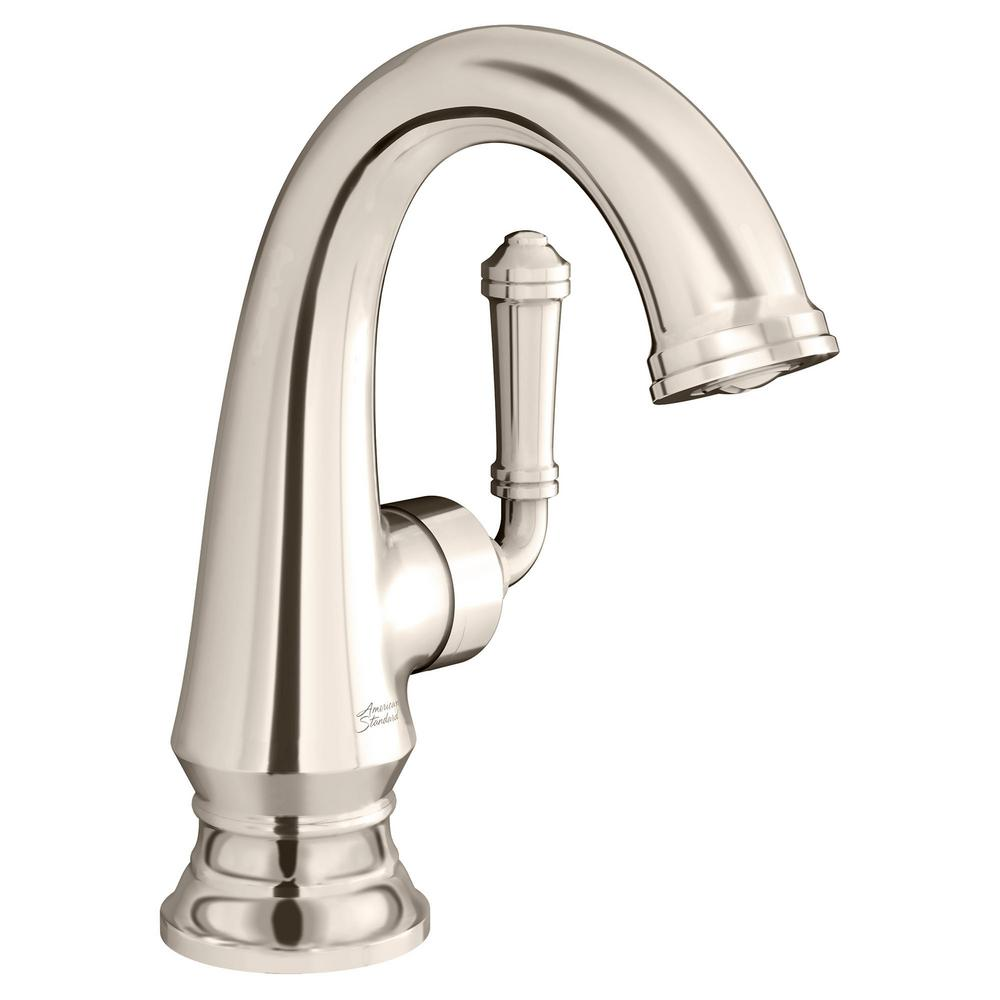American Standard Delancey Single Hole Single-Handle Bathroom Faucet with Side Handle in Polished Nickel