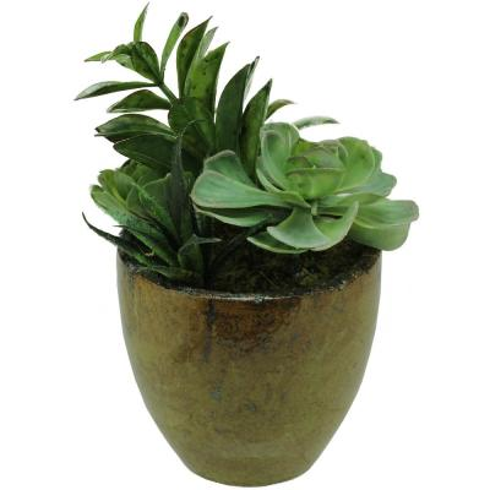 8.5 in. Artificial Succulent Plants in Pot