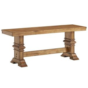 Outstanding Oak Dining Bench With Trestle Leg Theyellowbook Wood Chair Design Ideas Theyellowbookinfo