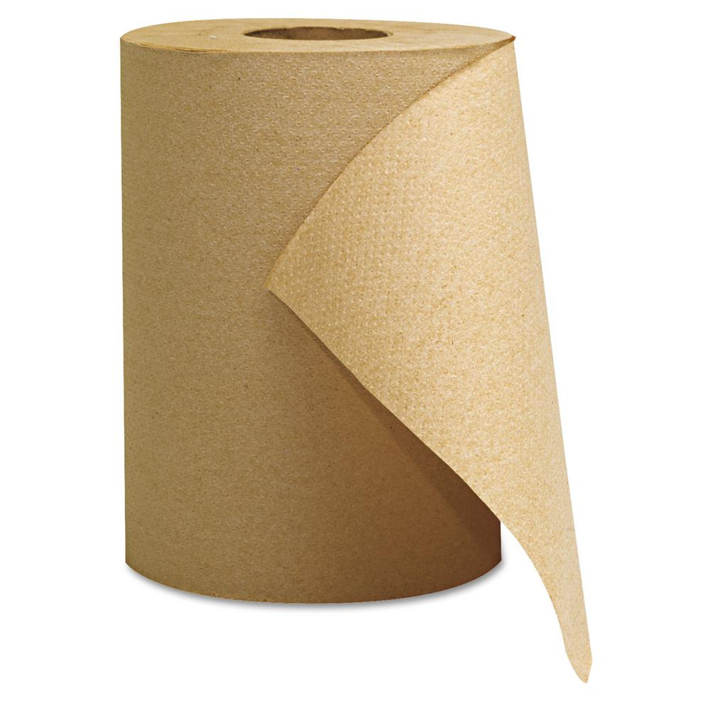 GEN Kraft 8 in. x 350 ft. Hardwound Roll Towels, Natural Get high-quality towels at a budget-friendly price. Smooth, absorbent paper provides excellent hand-drying performance. Fits standard dispensers. Application: Bathrooms; General Purpose; Washrooms; Applicable Material: Countertops; Seats; Stalls; Hands; Material(s): Paper; Color(s): Natural.