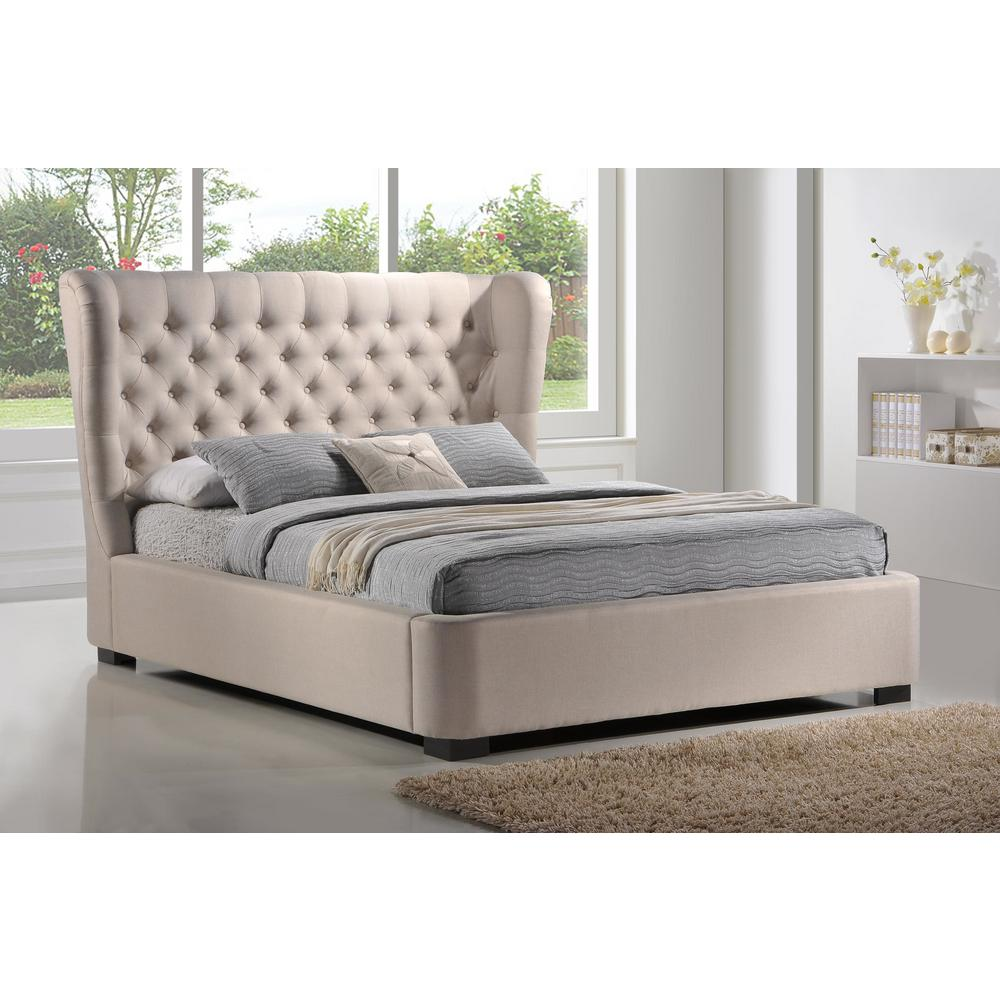 Luxeo Manchester Palazzo Mist King Upholstered Bed Lux K6320 Plm The Home Depot
