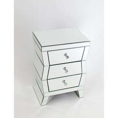 Clear Beveled Mirror Chest