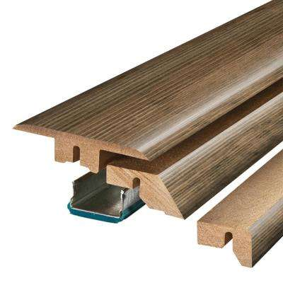 Weathered Grey Wood 3/4 in. Thick x 2-1/8 in. Wide x 78-3/4 in. Length Laminate 4-in-1 Molding
