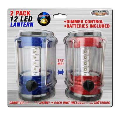 12 LED Battery Operated Camping Lantern (2-Pack)