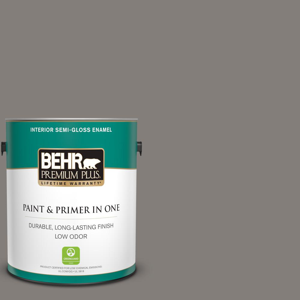 Reviews For Behr Premium Plus 1 Gal Ppu18 17 Suede Gray Semi Gloss Enamel Low Odor Interior Paint And Primer In One 330001 The Home Depot
