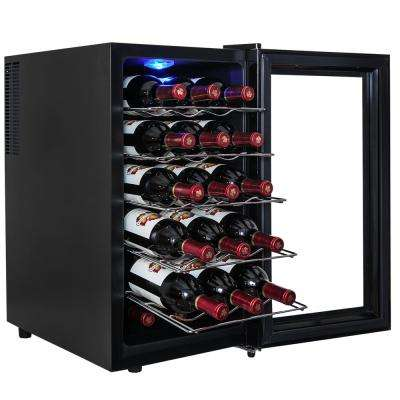 18-Bottle Single Zone Thermoelectric Wine Cooler in Black with Touch Control