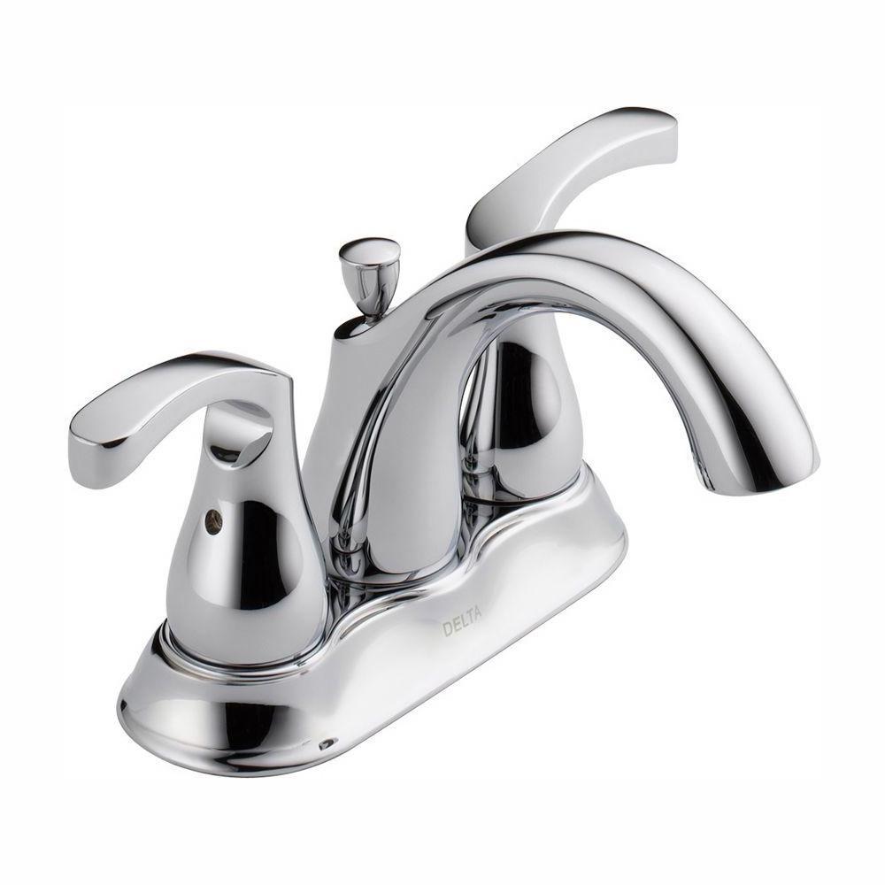 Denim 4 in. Centerset 2-Handle Bathroom Faucet in Chrome