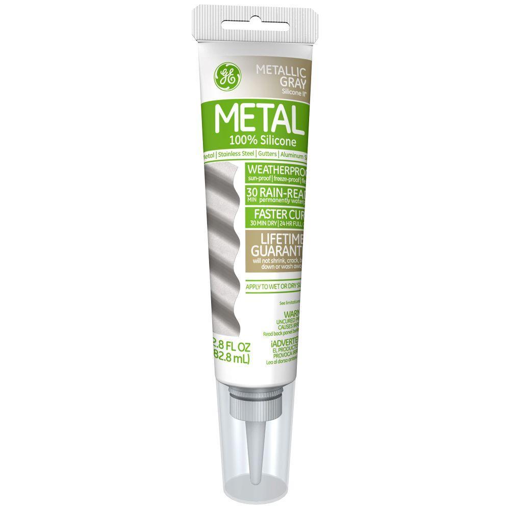 Ge silicone ii 28 oz metallic gray metal caulk ge285 the home ge silicone ii 28 oz metallic gray metal caulk ge285 the home depot nvjuhfo Choice Image