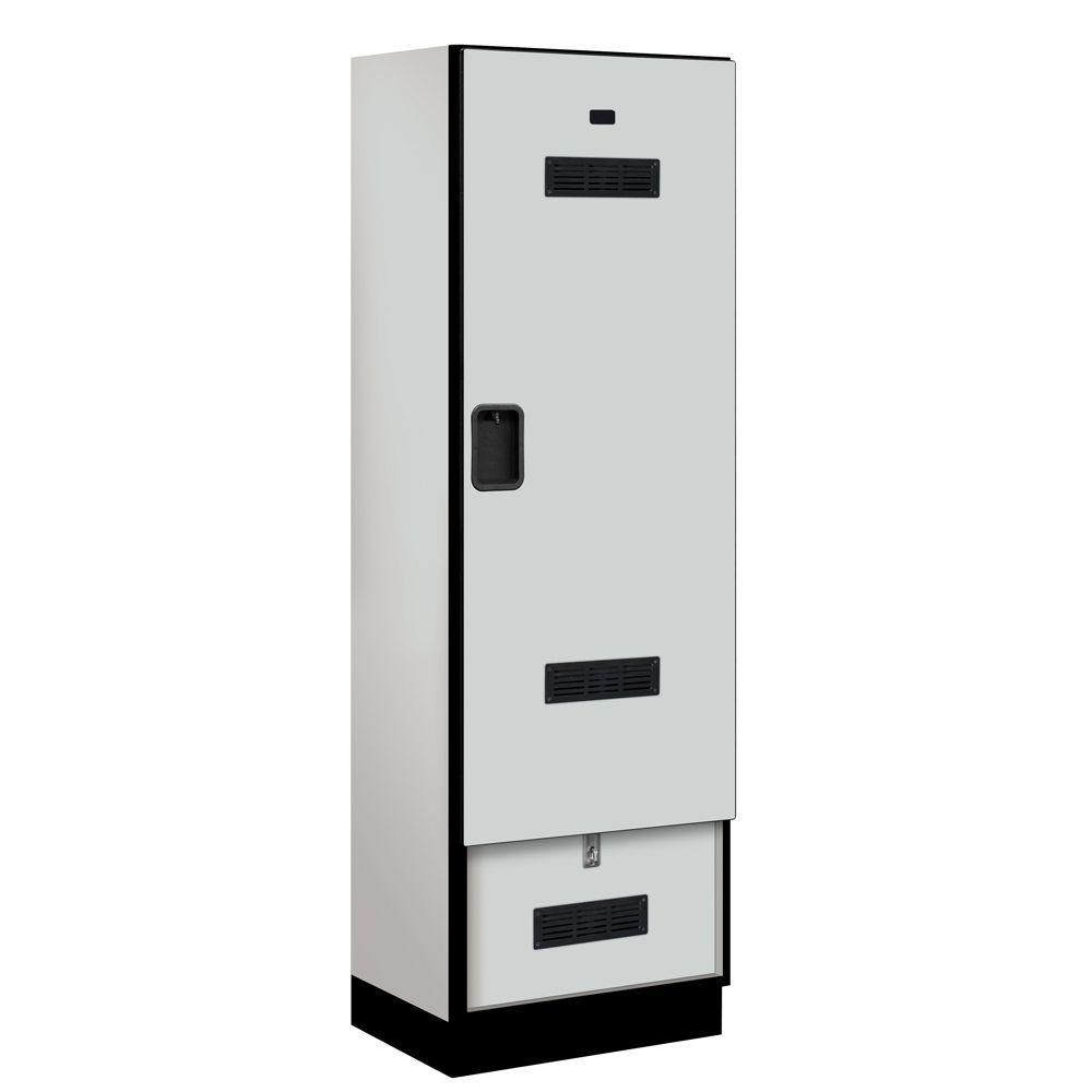 Salsbury Industries 30000 Series 24 in. W x 76 in. H x 18.75 in. D Designer Gear Locker in Gray