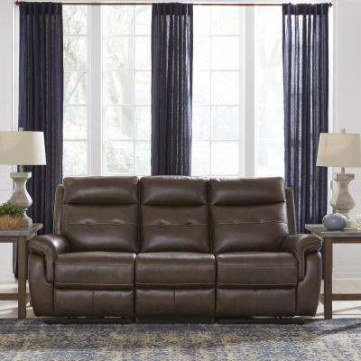 Lux Brown Leather Power Motion Reclining Sofa