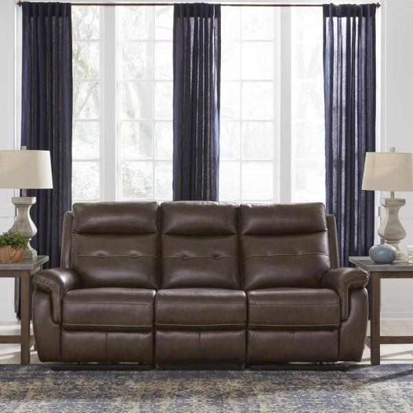 Admirable Homestyles Lux Brown Leather Power Motion Reclining Sofa Ibusinesslaw Wood Chair Design Ideas Ibusinesslaworg