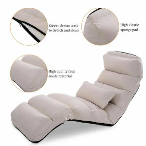 Prime Costway Beige Folding Lazy Sofa Chair Stylish Sofa Couch Gamerscity Chair Design For Home Gamerscityorg