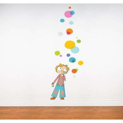 """(40 in x 59 in) Multi-Color """"Bubbles"""" Kids Wall Decal"""