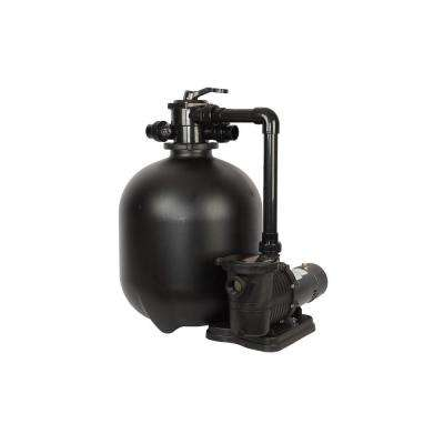Pro 22.9 in. 300 lbs. Sand Filter System with 2 HP Pump for IG Pools