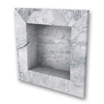 17 in. x 17 in. Square Recessed Shampoo Caddy in Everest